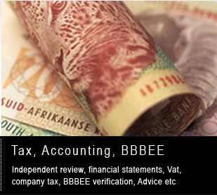 Tax, accounting, BBBEE verification